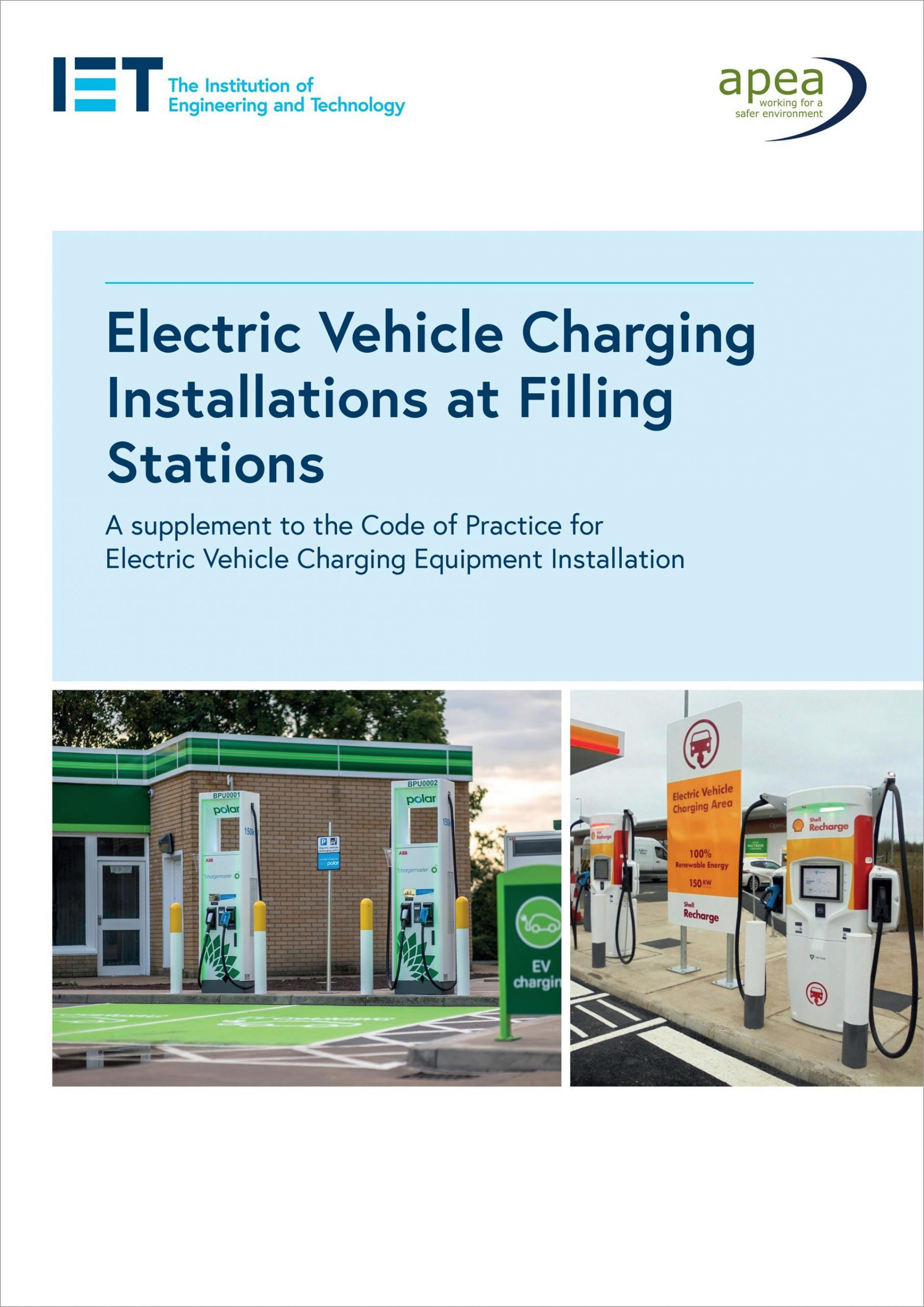 Cover, Electric vehicle charging installatioins at filling stations